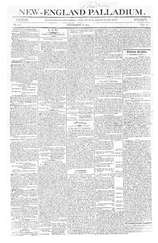 New-England palladium - page 1