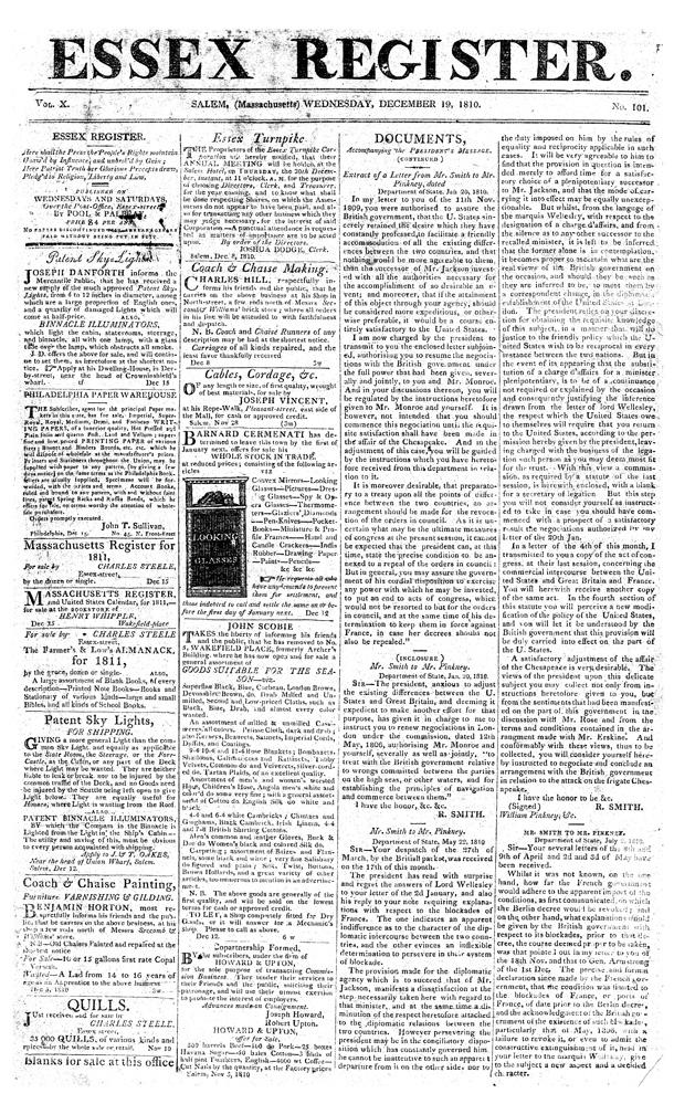 Essex register - page 1