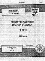 Country development strategy statement, FY 1981, Panama