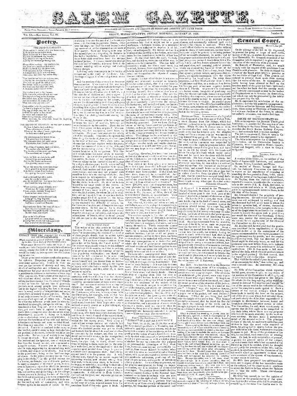 The Salem gazette - page 1