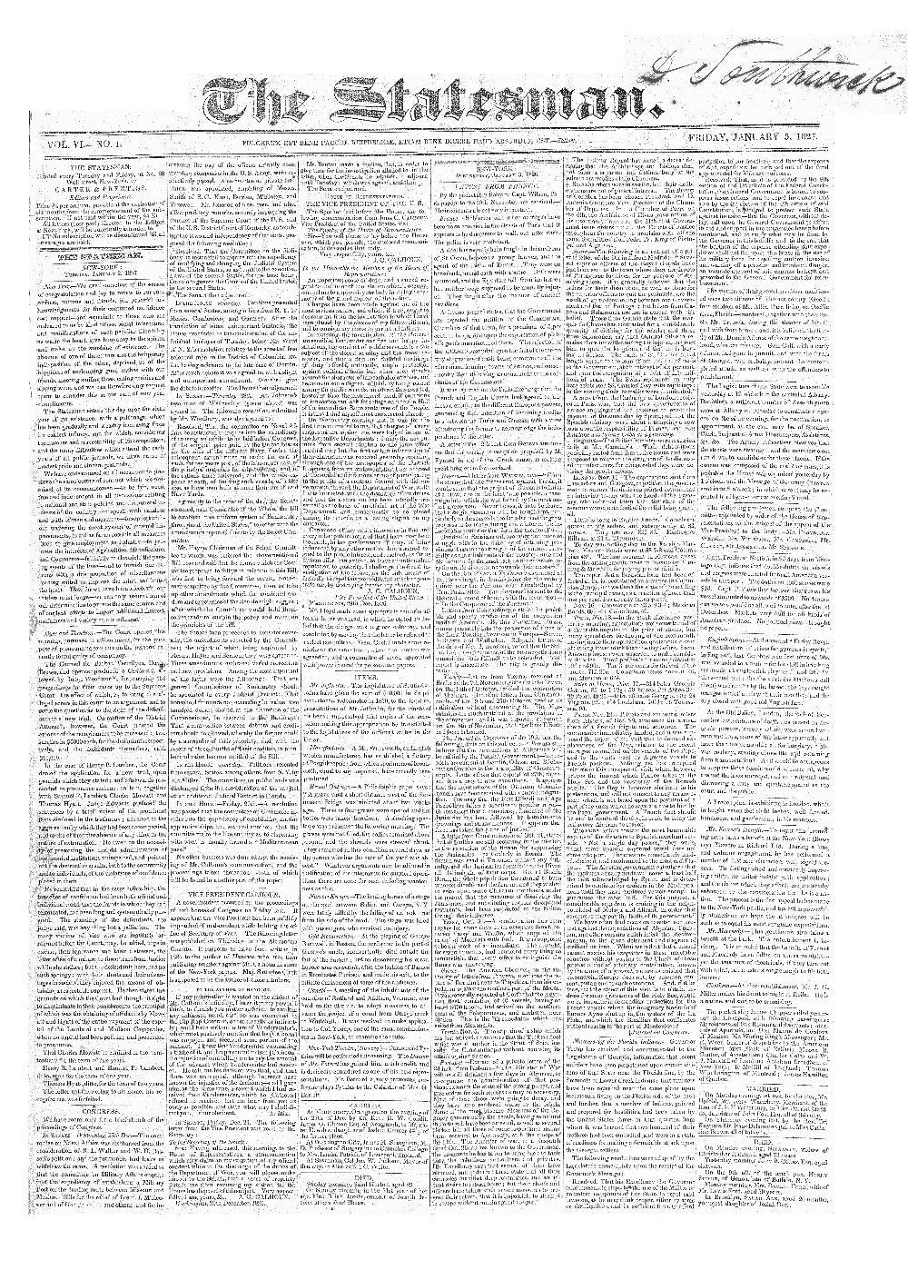 The statesman - page 1