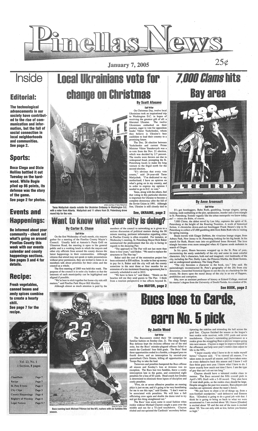 Pinellas news. January 7, 2005. - page 1