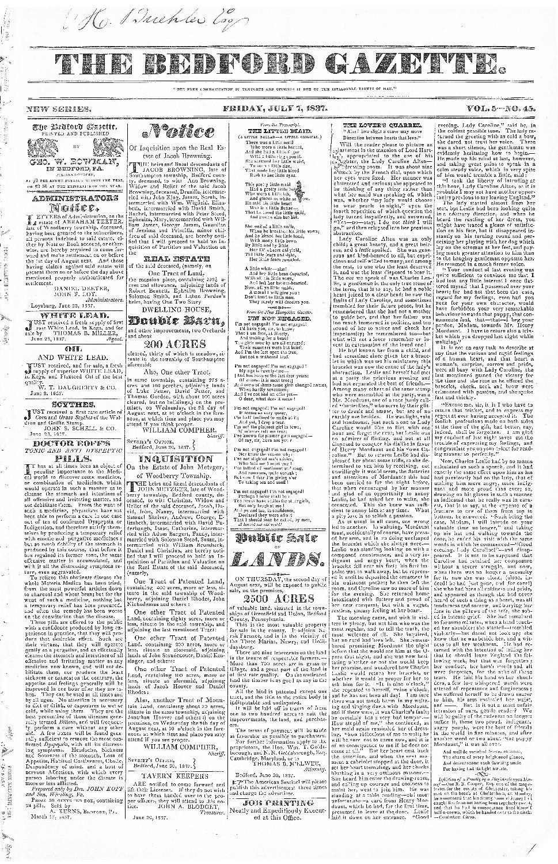 The Bedford gazette - page 1