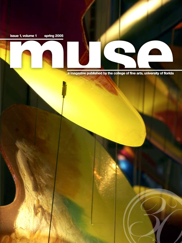 Muse : a magazine published by the College of Fine Arts, University of Florida - Front cover