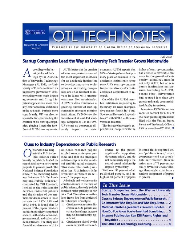 OTL tech notes - Page 1