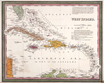A new & correct map of the West Indies, drawn from the best authorities