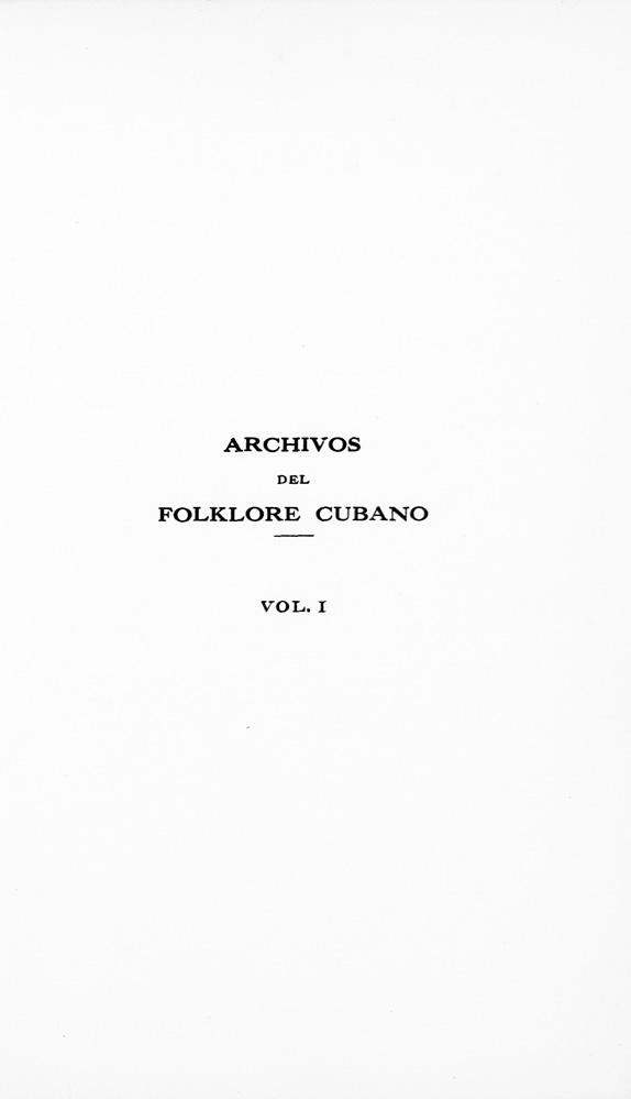 Archivos del folklore cubano - Page 1