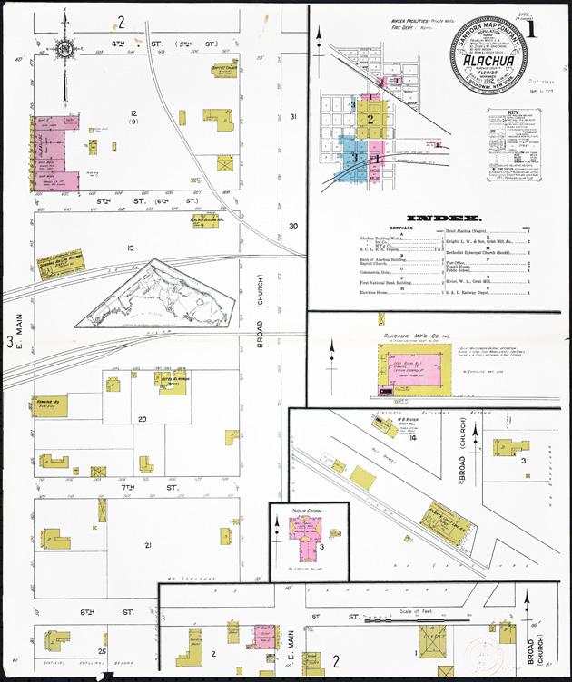 Alachua, Alachua County, Florida, 1912 - Sheet 1