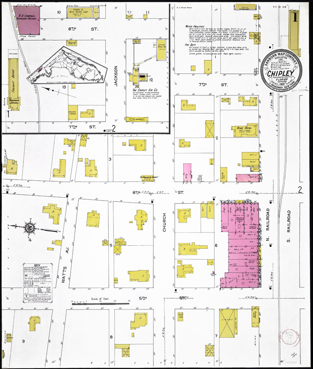 Insurance maps of Chipley, Florida - Sheet 1