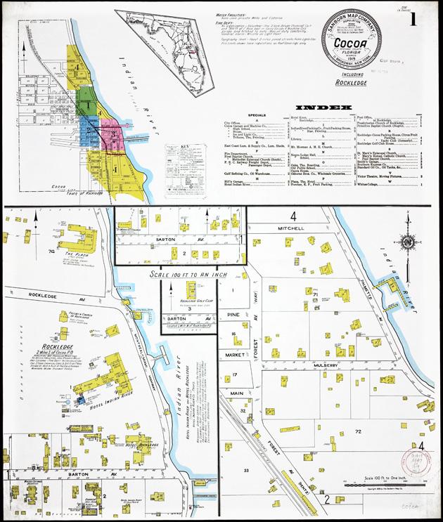 Insurance maps of Cocoa, Florida - Sheet 1