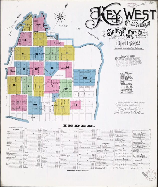 Key West, Monroe County, Florida, 1892 - Sheet 1