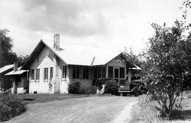 Exterior photo (bungalow house as provided for American staff at Firestone Plantations).