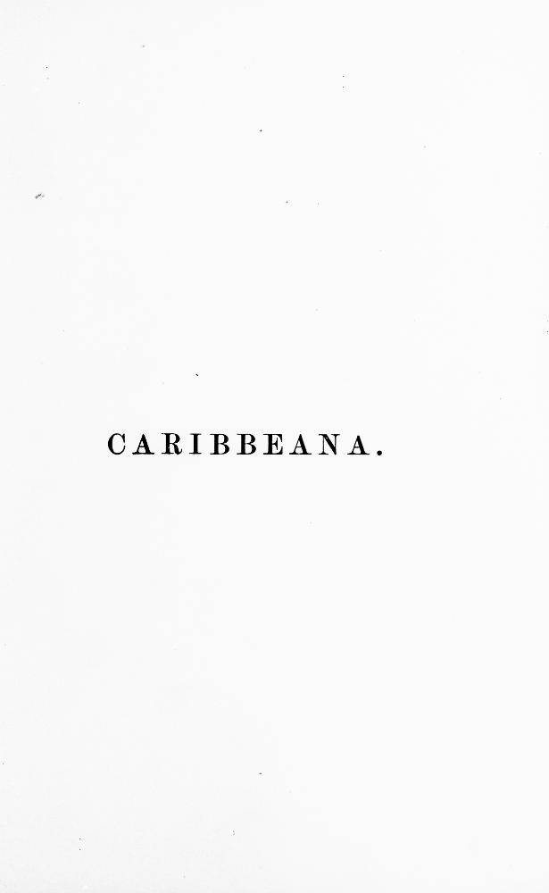 Caribbeana  - Page i