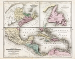 Map of the West Indies, Guatimala, and part of Mexico