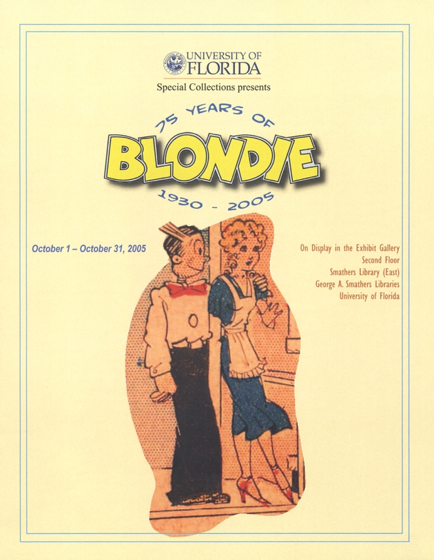 75 years of Blondie : 1930 - 2005 - Front cover