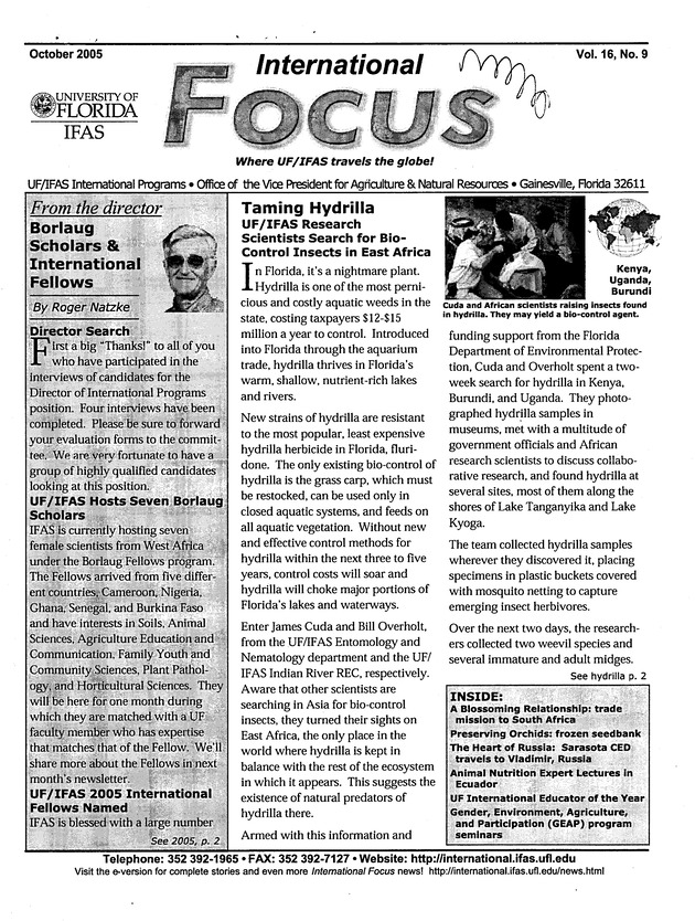International focus. Vol. 16. No. 9. - Page 1