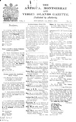 The Antigua, Montserrat and Virgin Islands gazette