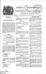 The Antigua, Montserrat and Virgin Islands gazette