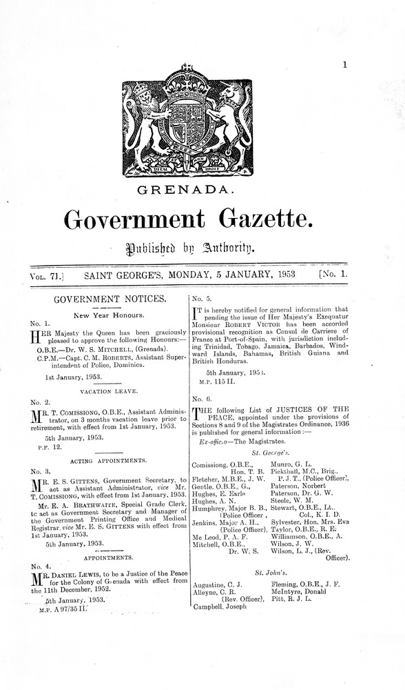 Government gazette - Page 1