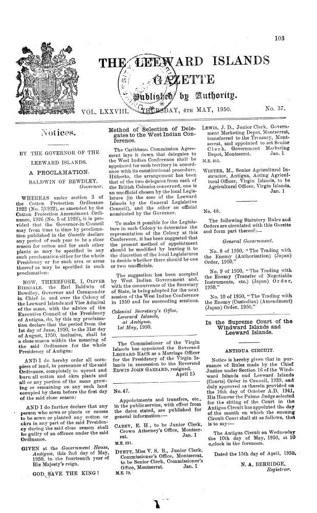 Leeward Islands gazette - Page 103