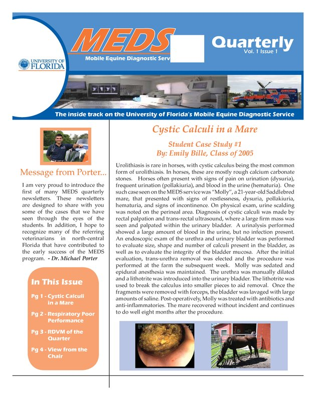 MEDS quarterly. Vol. 1. Iss. 1 - Page 1