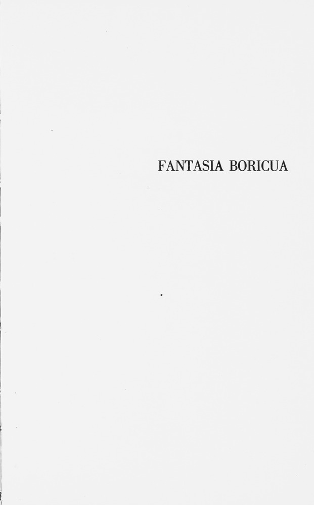 Fantasía boricua - Front Cover 1