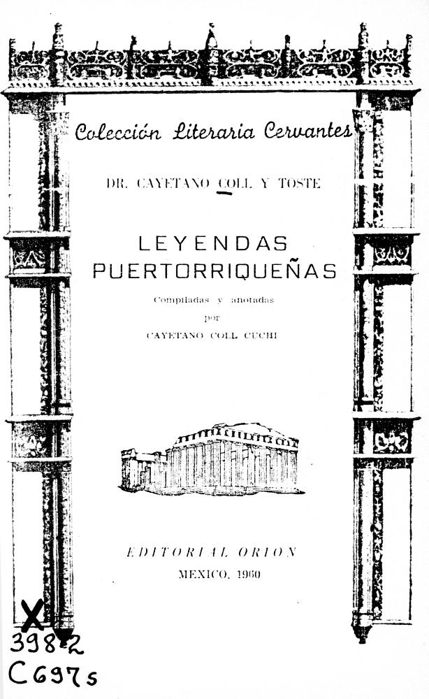 Selección de Leyendas puertorriqueñas - Front Cover 1