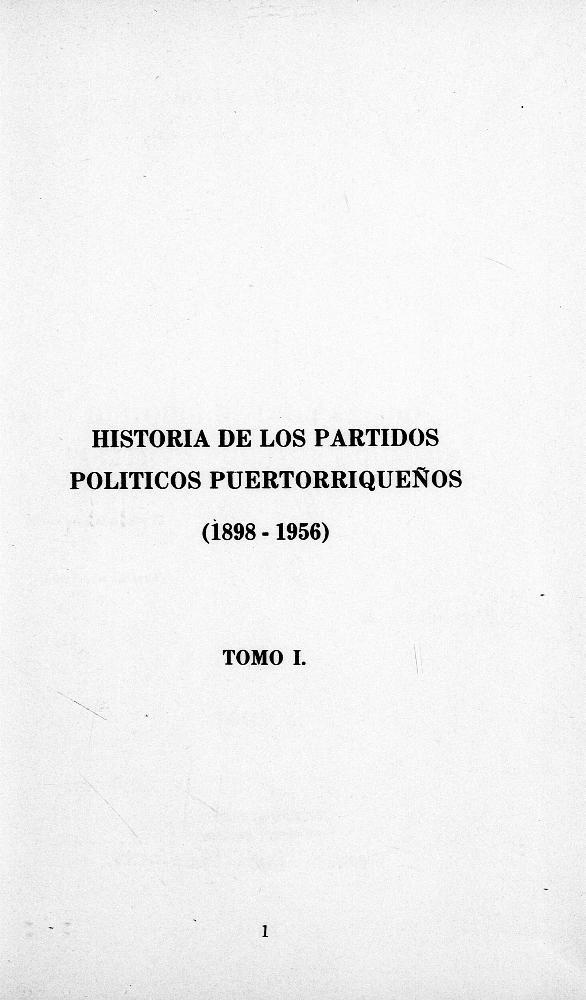 Historia de los partidos políticos puertorriqueños (1898-1956) - Page 1