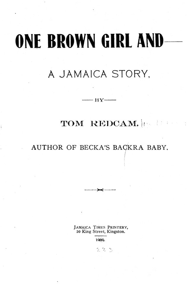 One brown girl and a Jamaica story - Front Cover