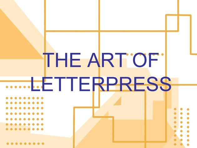 The Art of Letterpress, exhibit proposal - Page 1