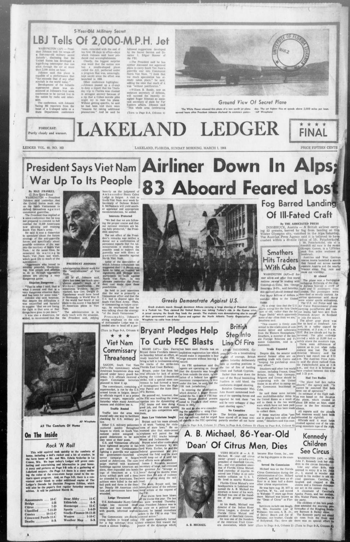 Lakeland ledger - Page 1