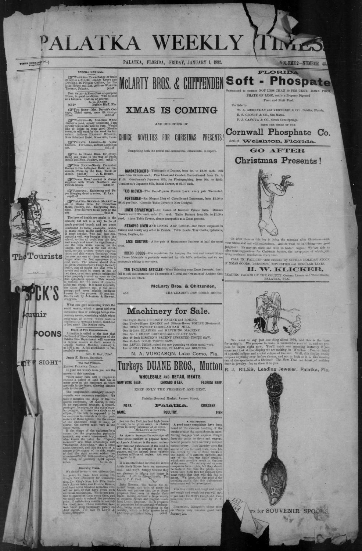 Palatka weekly times - Page 1