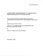 Laboratory experiments on cohesive soil bed fluidizatino by water waves