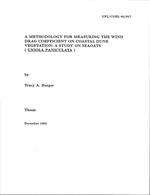 Methodology for measuring the wind drag coefficient on coastal dune vegetation
