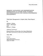 Erosion, navigation and sedimentation imperatives at Jupiter Inlet, Florida: recommendations for coastal engineering management