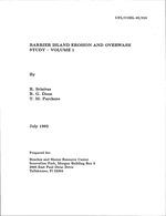 Barrier island erosion and overwash study - volume 1