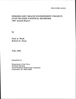 Perdido Key beach nourishment project: Gulf Islands National Seashore 1991 annual report