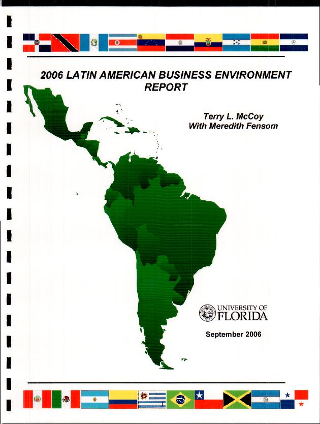 Latin American business environment  - Front Cover