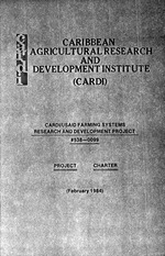 CARDI/USAID Farming Systems Research and Development Project, #538-0099, project charter