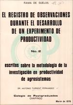 Registro de observaciones durante el desarrollo de un experimento de productividad