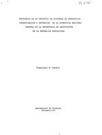 Propuesta de un proyecto de sistemas de produccion, investigacion y extension en la direccion regional central de la Secretaria de Agricultura en la Republica Dominica