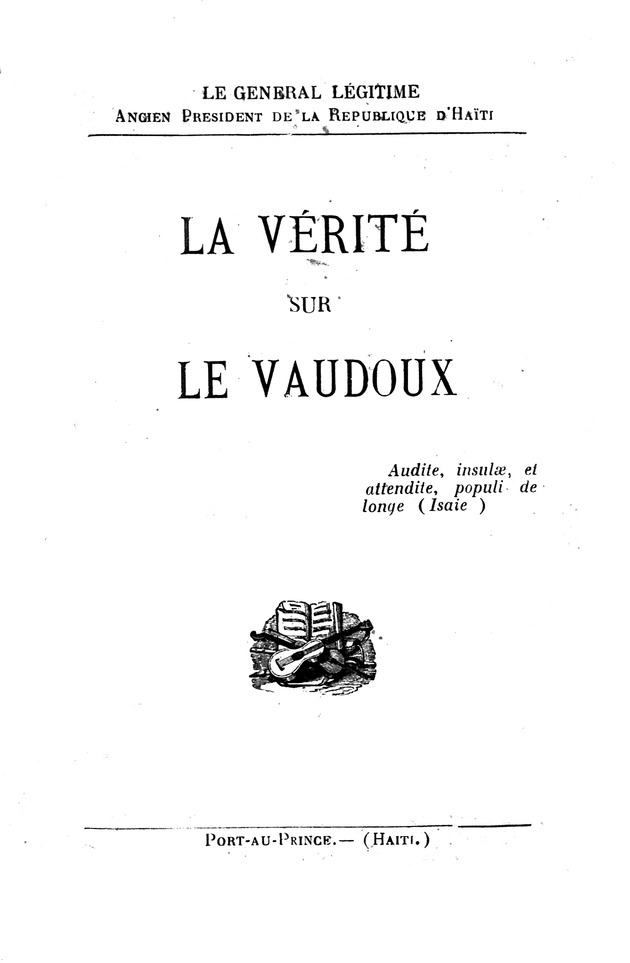 La vérité sur le vaudoux - Front Cover 1