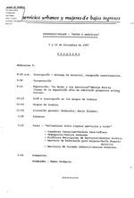 """Seminario-taller : """"Mujer y Servicios"""". Programa."""