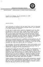 """Correspondence from Marta y Rosa Maria to Helen Safa about """"ano 31 de la Revolucion"""" ciudad de la Habana, 14 de septiembre de 1989"""