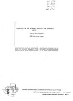 Exercises in the economic analysis of agronomic data