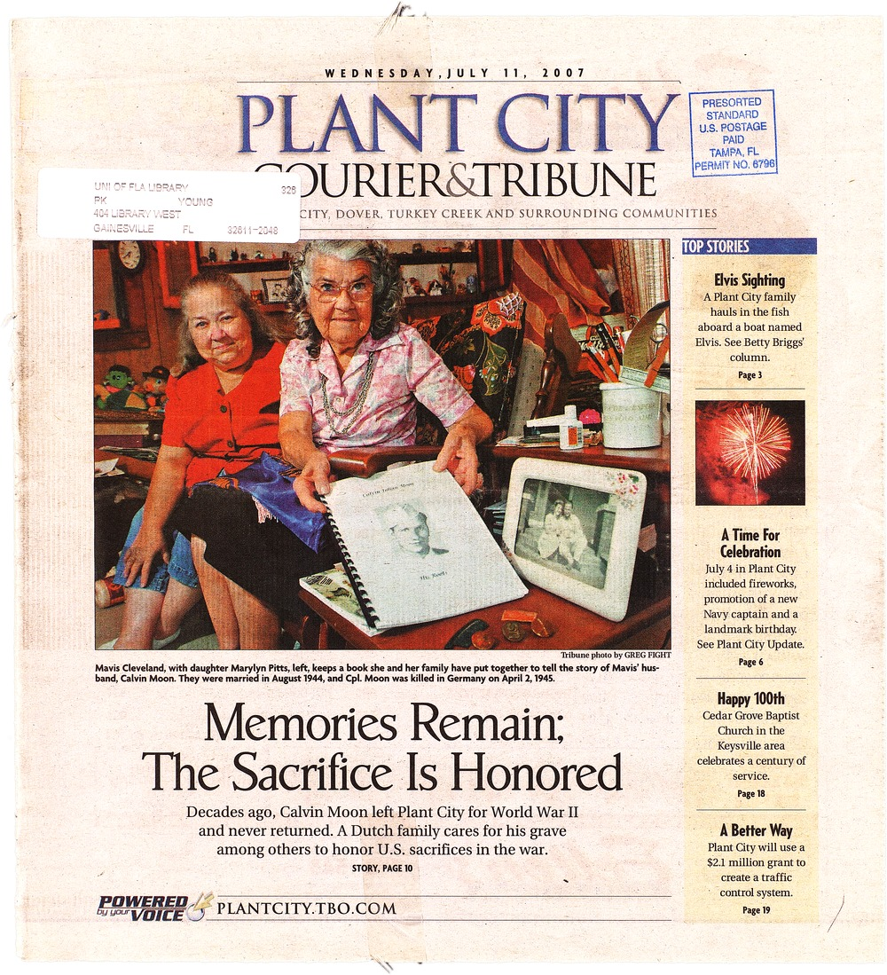 Plant City courier & tribune. 2007. - Page 1