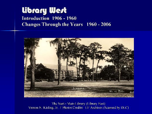 Library West History ( Presentation Slides ) - Page 1