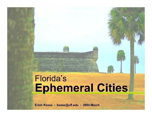 Ephemeral Cities (WebWise presentation, 2004) - Page 1