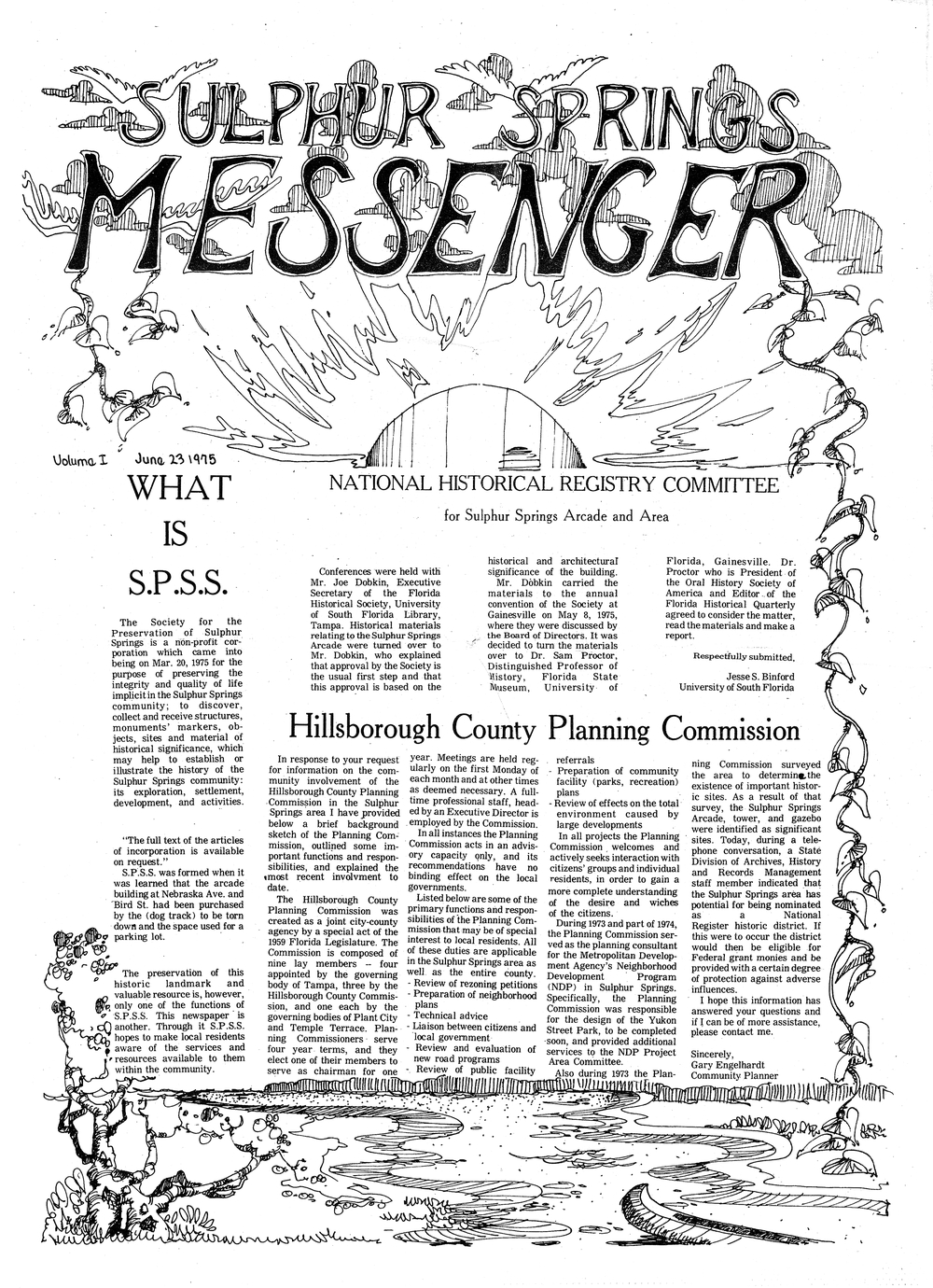 Sulphur Springs Messenger. June 23, 1975. - Page 1