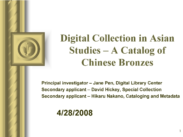 Digital Collections in Asian Studies ( presentation ) - Page 1